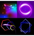 Set of blurry abstract lines light effect sparkle vector