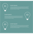 Business infographic with contour white light bulb vector