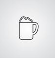 Cappuccino outline symbol dark on white background vector