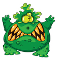 Terrible green monster vector