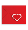 Heart stickers red envelope vector