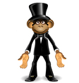 Monkey in a top hat vector