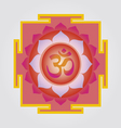 Om yantra design vector