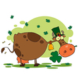 St patricks day cow cartoon vector