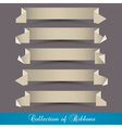 Set of origami paper ribbons banners vector