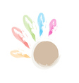Concept or conceptual cute paint hands vector