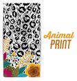 Animal print design vector