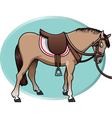 Horse and saddle vector