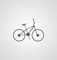 Bike outline symbol dark on white background logo vector