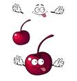 Happy little cherry fruit vector