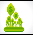 Creative money plant or dollar forest background vector