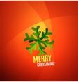 Modern abstract christmas card vector