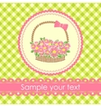 Floral gift basket background vector