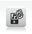 Music price icon vector