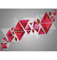 Red 3d triangles vector