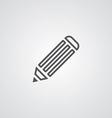 Pencil outline symbol dark on white background vector