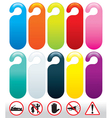 Doors icons and signs vector
