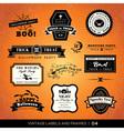 Vintage halloween labels and frames vector