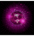 Disco ball pink party background ai vector