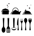Set tools for kitchen vector