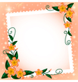 Background with flowers and paper vector