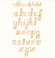 Ribbon alphabet vector