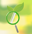 Organic nature lens leaf search vector