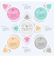 Elements for infographics four options vector
