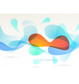Bright abstract colorful elements flow background vector