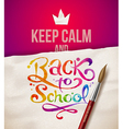 Keep calm and back to school vector