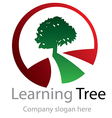 Abstract learning tree logo vector