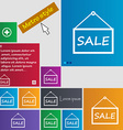 Sale tag icon sign metro style buttons modern vector