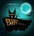 Halloween party greeting card vector