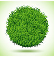 Circle background of green grass vector