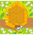 Maze game with bee and butterfly vector
