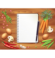 Kitchen recipe background vector