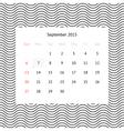 Calendar page for september 2015 vector