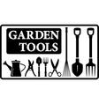 Garden tools collection vector