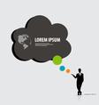 Modern infographics template style businessman vector