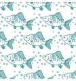 Seamless pattern fish perch vector