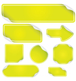 Fresh green stickers set vector