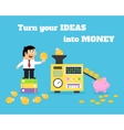 Business life ideas money converter vector
