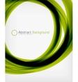 Elegant swirl shaped modern business template vector