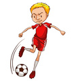 A male soccer player vector