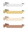 Origami ribbons neutral colors vector vector