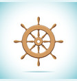 Wooden ship wheel vector