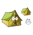 Fun cartoon tent vector