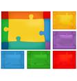 Puzzle background set vector