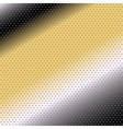 Halftone dots black yellow background vector