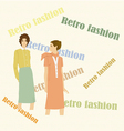 Retro fashion vector